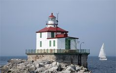 Ashtabula Harbor Lighthouse is located near the northern end of the west breakwater in Ashtabula Harbor. Though the current lighthouse is over a century old, it is not the first to stand watch over the harbor.