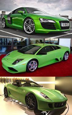 We're 'Going Green'! Audi, Lambo or Ferrari?