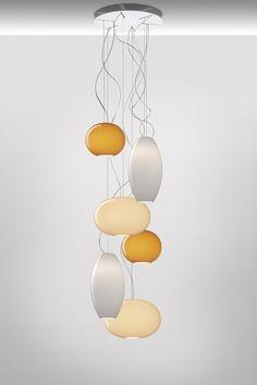 Suspension Lamp New Buds 3 Ambra Foscarini