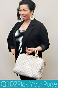 Louis Vuitton - Speedy Damier Azur. Go to wkrq.com to find out how to play Q102's Pick Your Purse!