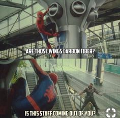 Have you go to the movie theater and watch the newest ? Are you a big fan of Spider-Man movies? I have collected 30 awesome quotes for you guys. Spider-Man, as a popular… Funny Marvel Memes, Marvel Jokes, Dc Memes, Marvel Dc Comics, Marvel Avengers, Spiderman Marvel, Young Avengers, Ms Marvel, Captain Marvel