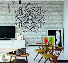 Stencil, Home Decor, Decoration Home, Room Decor, Stenciled Table, Home Interior Design, Stenciling, Home Decoration, Interior Design