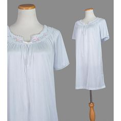 nice Summer Nightgown / 80s Nightie / Floral by recyclinghistory - Etsy