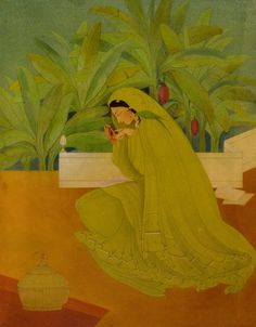 Abdur Rahman Chughtai, Hiraman Tota (1950) Source: arpoma
