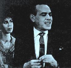 Paulo Gracindo, com Isabel Teresa, em A MORTA SEM ESPELHO. Novela de Nélson Rodrigues, dirigida por Sérgio Britto, exibida em 63.