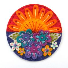 SUMMER FELT BROOCH by APPLIQUE-designedbyjane, via Flickr