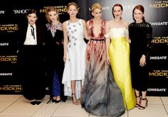Lorde, Natalie Dormer, Jennifer Lawrence, Elizabeth Banks, Jena Malone and Julianne Moore at the World Premiere of 'The Hunger Games: Mockingjay Part 1' at Odeon Leicester Square in London, Englan