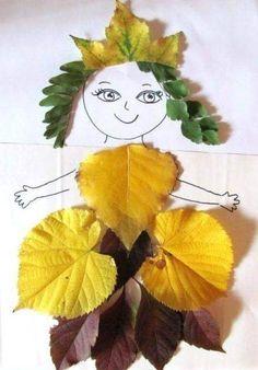 Kids Crafts, Leaf Crafts, Fall Crafts For Kids, Diy For Kids, Diy And Crafts, Arts And Crafts, Flower Crafts, Easter Crafts, Wood Crafts