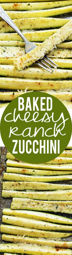 Baked Cheesy Ranch Zucchini /// I hate veggies and thought this was delicious! Side Dish Recipes, Vegetable Recipes, Vegetarian Recipes, Cooking Recipes, Healthy Recipes, Zucchini Muffins, Vegetable Side Dishes, I Love Food, Food Dishes
