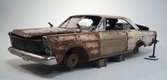 1965 Ford Galaxie 500 XL Pro Built Weathered Barn Find Junkyard Custom 1/25 AMT | eBay