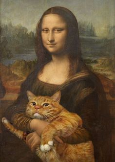 These are hilarious combinations of great art and an orange tabby. Check it out!