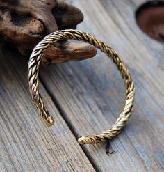 Twisted Brass Bracelet - OOAK by DreamingDragonDesign.deviantart.com on @deviantART