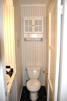 Well Liked White Wooden Swing Door And White Cabinet Over Toilet Small Half Bathroomsvery