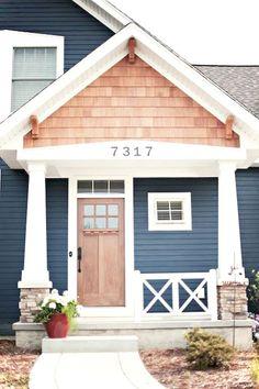 Exterior House Colors With Brown Roof: Lisa Mende Design: Best Navy Blue Paint Colors Blue Paint Colors, Paint Colors For Home, Bold Colors, Navy Color, Navy Paint, Outside House Paint Colors, Nautical Colors, Neutral Paint, House Paint Exterior