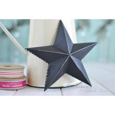 Estrella de madera  www.decoracionparafiestas.net