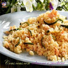 Cous cous con salmone e zucchine-ricetta primi-golosofia