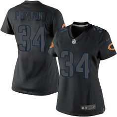Nike Bears  34 Walter Payton Black Impact Women s Embroidered NFL Limited  Jersey! Only  20.50 b72cd2053