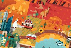 Beautiful vector art showcases the best of Australia - click the image to see more.