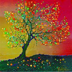 Singing Angel Tree Giclee Print by EnergyArtistJulia on Etsy.  I just love all of Julia's art!!