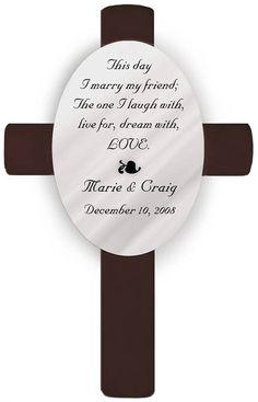 The This Day Poem Wedding Cross Is The Ideal Wedding Gift Personalized Wedding Crosses Are Available In A Variety Of Scriptural Passages And Traditional