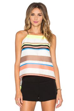 MILLY Stripe Trapeze Cami. #milly #cloth #dress #top #shirt