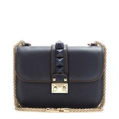 Lock leather shoulder bag - Shoulder bags - Valentino