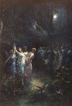 Gustave Dore (1832-1883), 'A Midsummer's Night Dream', 1870