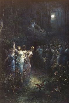 Gustave Dore (1832-1883), 'A Midsummer's Night Dream', 1870