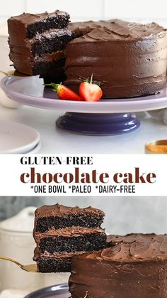 Paleo Cake Recipes, Dessert Recipes, Best Gluten Free Cake Recipe, Gf Cake Recipe, Delicious Desserts, Sugar Free Chocolate Cake, Chocolate Recipes, Chocolate Cake Recipe Videos, Death By Chocolate Cake
