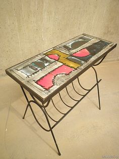 Belarti-love these pieces so much, lucky to own a coffee table Tiled Coffee Table, Coffee Tables, Vintage Tile, Mid Century Decor, Mid Century Modern Furniture, Mid-century Modern, Objects, Clay, Interiors