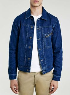 Zip Pocket Denim Western Jacket