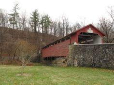 Beautiful covered bridge in South Whitehall Township, Allentown PA