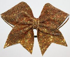 GORGEOUS Gold iridescent Cheerleading Allstar bow by Funbows