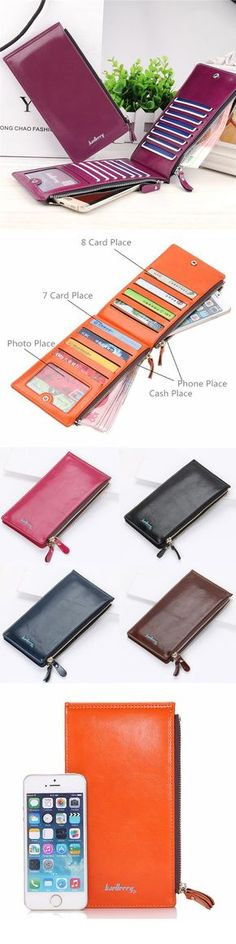 Universal Ultrathin PU Leather Vertic Long Wallet Purse 15 Card Slots Multi-Slots Phone Bags sales at a good price. Come to Newchic to buy a wallet, more cheap women wallets are provided online.