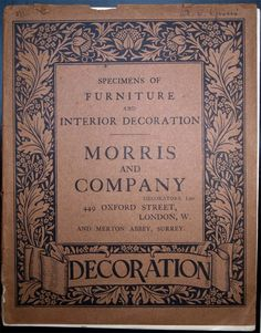 Morris & Co catalog. #morris #design
