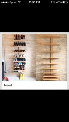 DIY shoe organizer/shelf