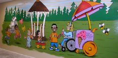 childrens ministry murals | ... way many churches choose to create their murals is to use clip art