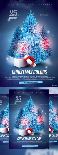 Christmas Colors Flyer Template PSD #design Download: http://graphicriver.net/item/christmas-colors/13742889?ref=ksioks