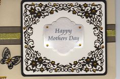 Mother's Day card using Creative expressions die by Sue Wilson Delicate Garden Frame (the butterfly comes with the die)