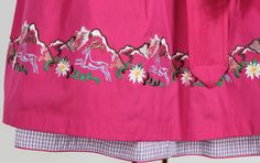 Cotton dirndl 70 lilac pink 38 - Costumes Sky
