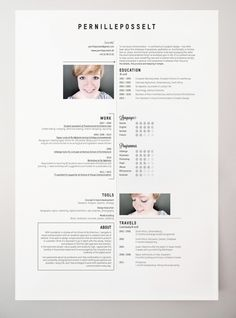 creative stylized resumes cvs film and graphic design industry