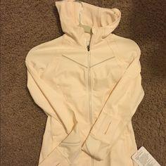 Rain on train on jacket White rain on train on jacket, new with tag! Size 4 lululemon athletica Jackets & Coats Utility Jackets