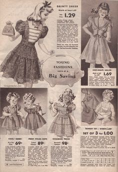 Summer 1942 Sale Chicago Mail Order Company--inspiration for Molly!