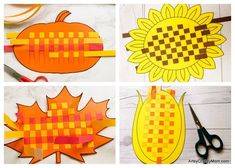These Paper Weaving Fall Printables are perfect to strengthen and keep those little fingers busy this season! Also helps to improve concentration and hand-eye coordination in little kids. Paper Weaving, Weaving Art, Sea Crafts, Diy Arts And Crafts, Fall Crafts For Kids, Art For Kids, Snail Craft, Weaving For Kids, Paper Crafts Origami