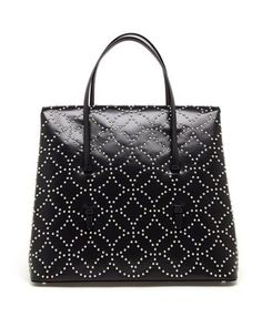 AZZEDINE ALAÏA - Studded Calf Leather Bag