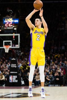 d6cae48cb3c Lonzo Ball Photos - Lonzo Ball #2 of the Los Angeles Lakers shoots during  the