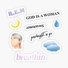 Pop Stickers, Tumblr Stickers, Printable Stickers, Ariana Grande Drawings, Ariana Grande Wallpaper, Ariana Merch, Drawing Wallpaper, Aesthetic Stickers, Sticker Design