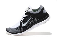 Nike Free 4.0 Flyknit Men Black Grey White,www.freerundistance.com