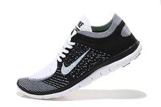 Nike Free 4.0 Flyknit Men Black Grey White,www.freerundistance.com