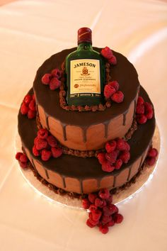 Irish Whiskey Wedding Cake